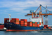 Video surveillance port, ports, sea and inland ports, harbour, container port, shipping port