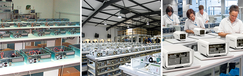 30 years network based video surveillance products by Dallmeier - photos of our manufacturing facility in Regensburg.