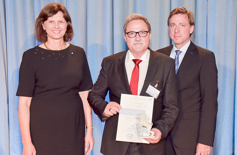 Dieter Dallmeier with Ilse Aigner and Dr. Thomas Edenhofer at BAYERNS BEST 50 2016
